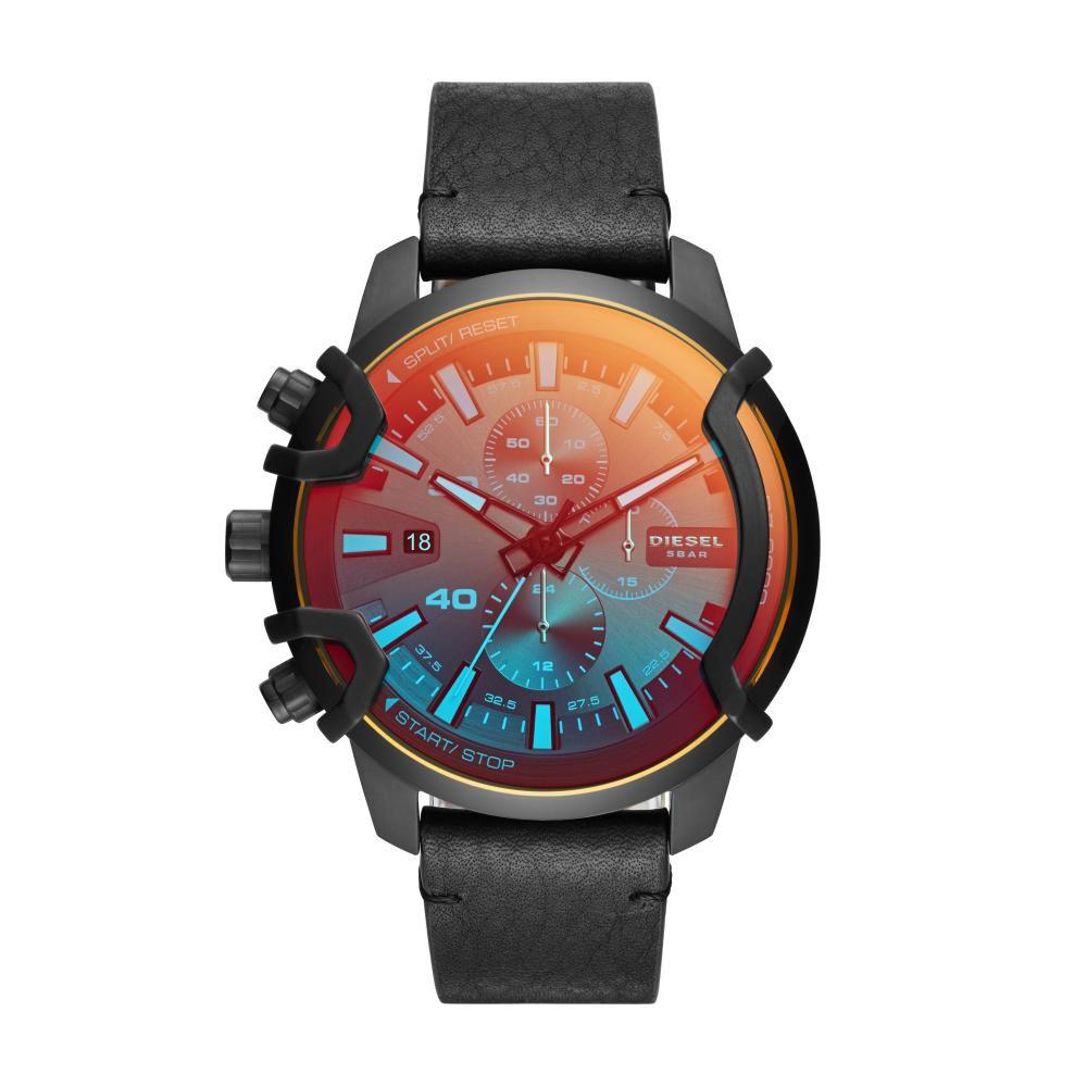 Relógio Masculino Diesel DZ4519/1PN 50mm Couro Preto