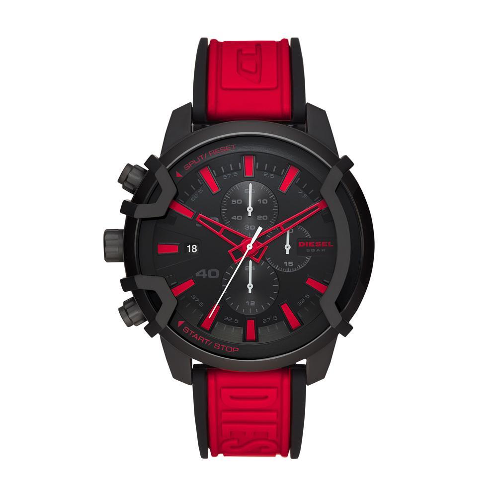 Relógio Masculino Diesel DZ4530/1PN 48mm Silicone Preto/Vermelho