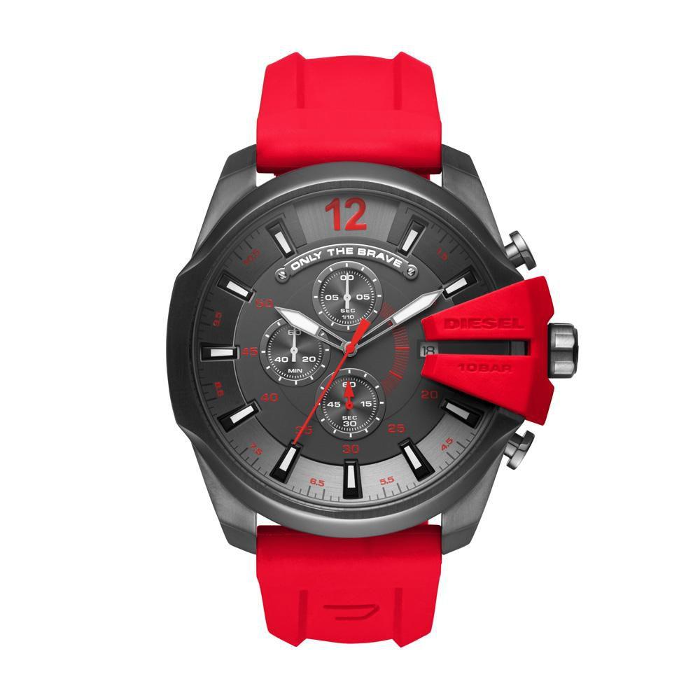 Relógio Masculino Diesel Mega Chief DZ4427/8RN 53mm Silicone Vermelho