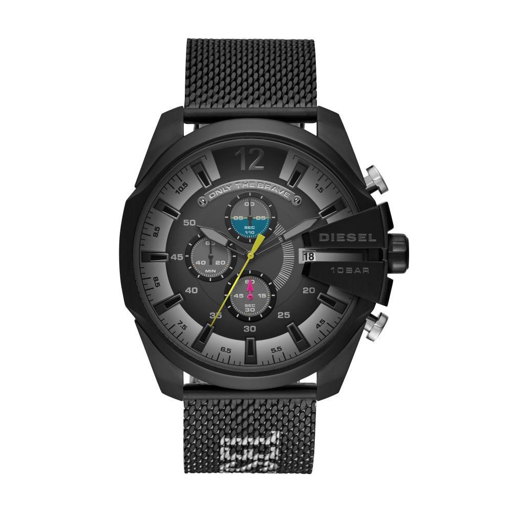 Relógio Masculino Diesel Mega Chief DZ4514/1PN 52mm Aço Preto
