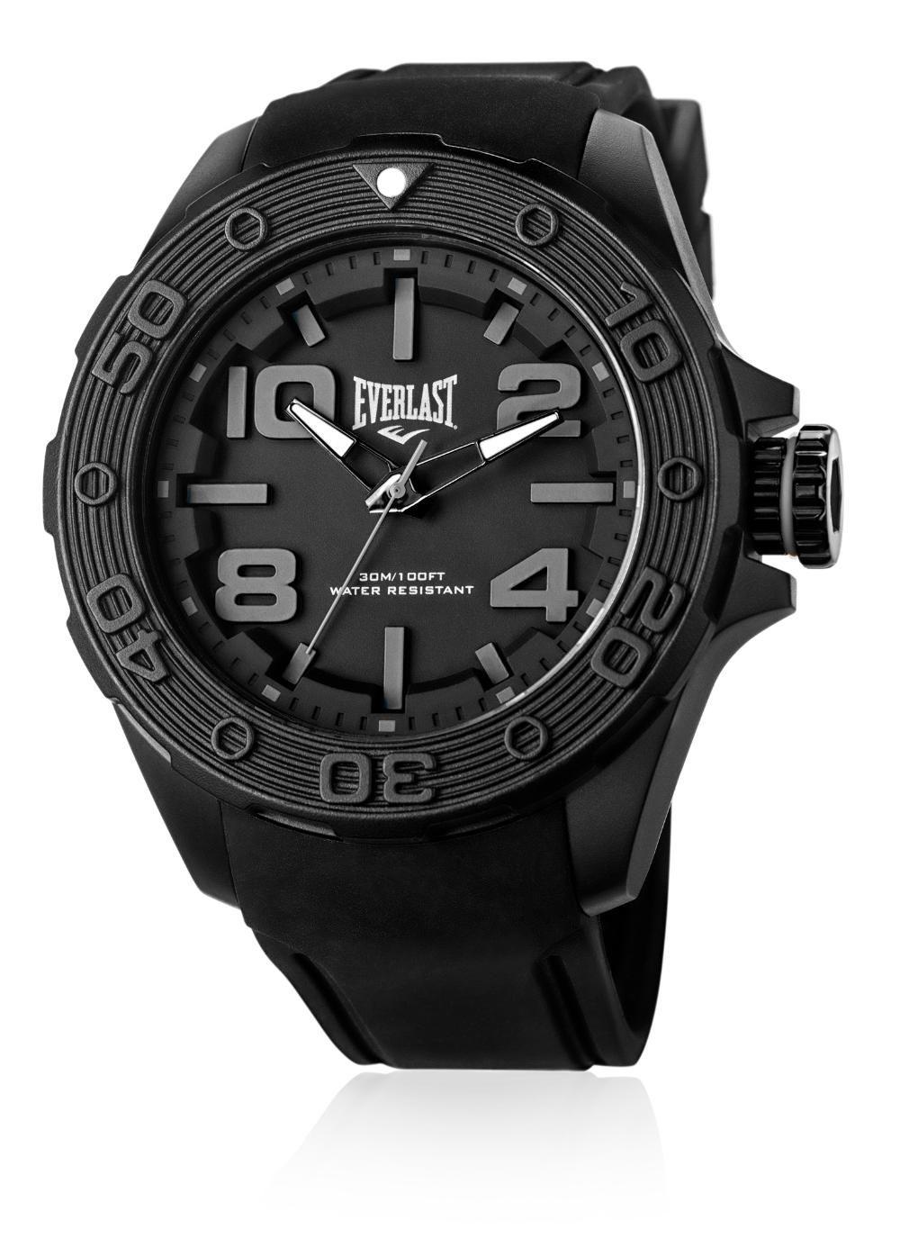 Relógio Masculino Everlast E616 53mm Silicone Preto