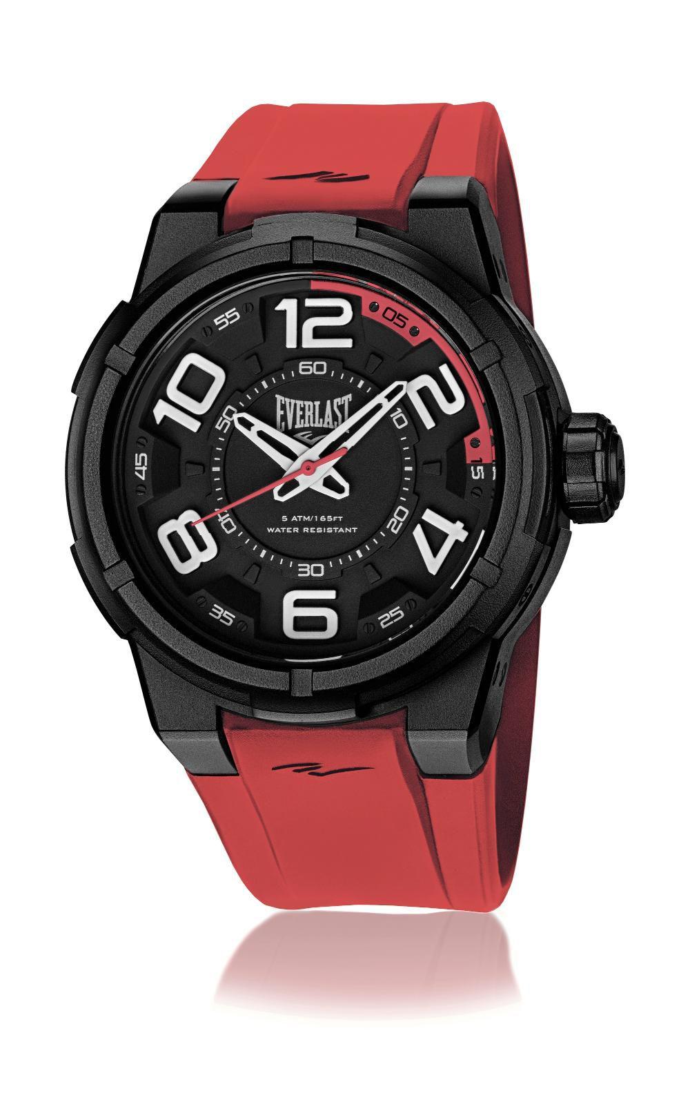Relógio Masculino Everlast Esporte E691 48mm Silicone Laranja