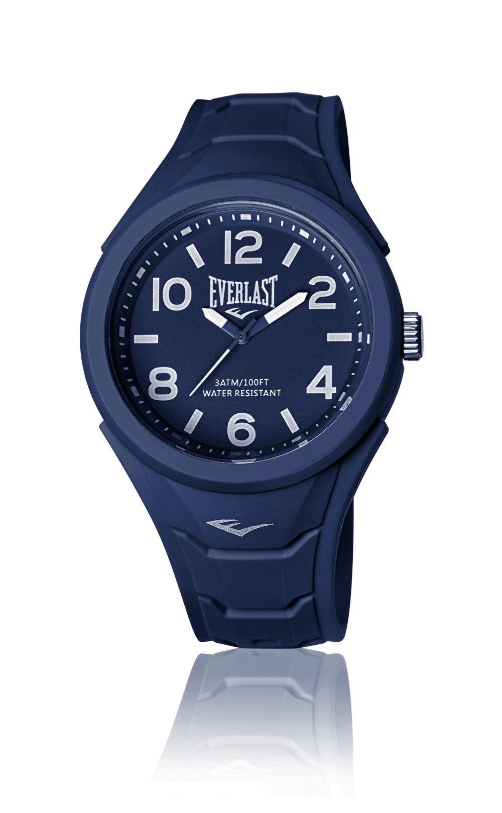 Relógio Masculino Everlast Esporte E703 45mm Silicone Azul