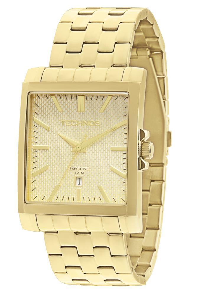 Relógio Feminino Technos 2115KOZ/4X 36mm Aço Dourado