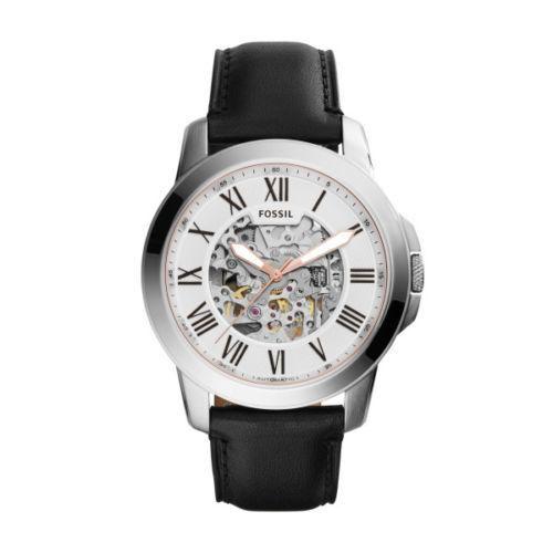 Relógio Masculino Fossil Automático ME3101/0KI 44mm Couro Preto