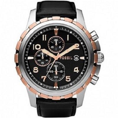 Relógio Masculino Fossil FFS4545/Z 44mm Couro Preto