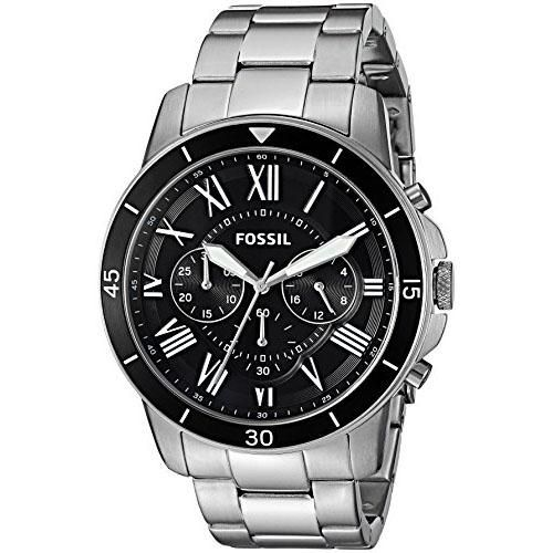 Relógio Masculino Fossil FS5236/0PN 43mm Pulseira Aço Prata