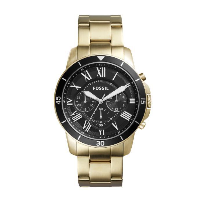 Relógio Masculino Fossil FS5267/4PN 45mm Pulseira Aço Dourada