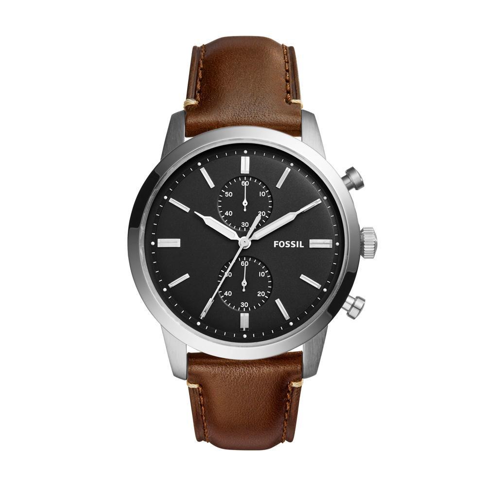 Relógio Masculino Fossil FS5280/0PN 44mm Couro Marrom