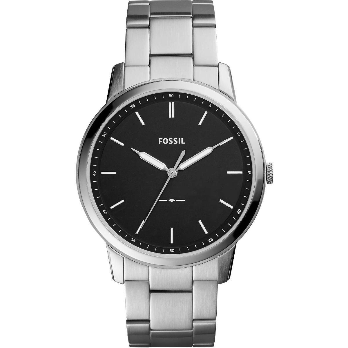 Relógio Masculino Fossil FS5307/1PN 44mm Aço Prata