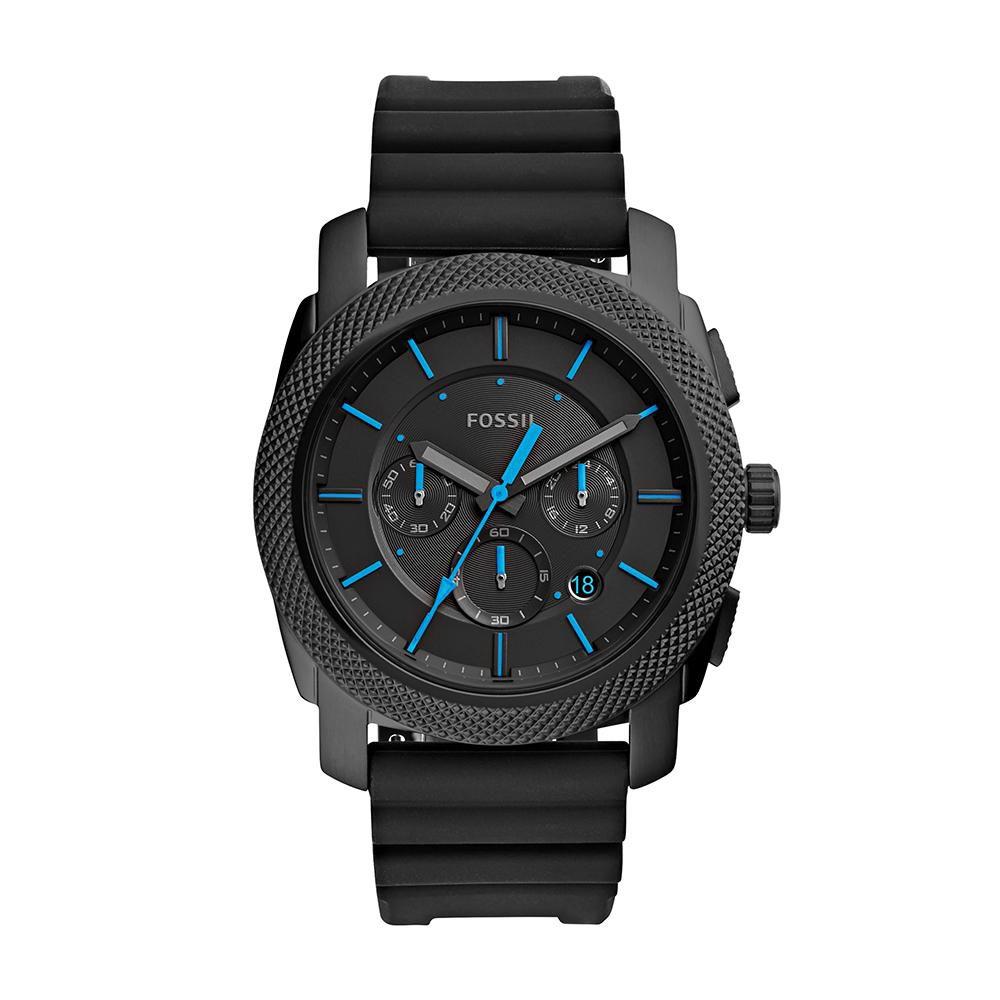 Relógio Masculino Fossil FS5323/8PN 45mm Silicone Preto