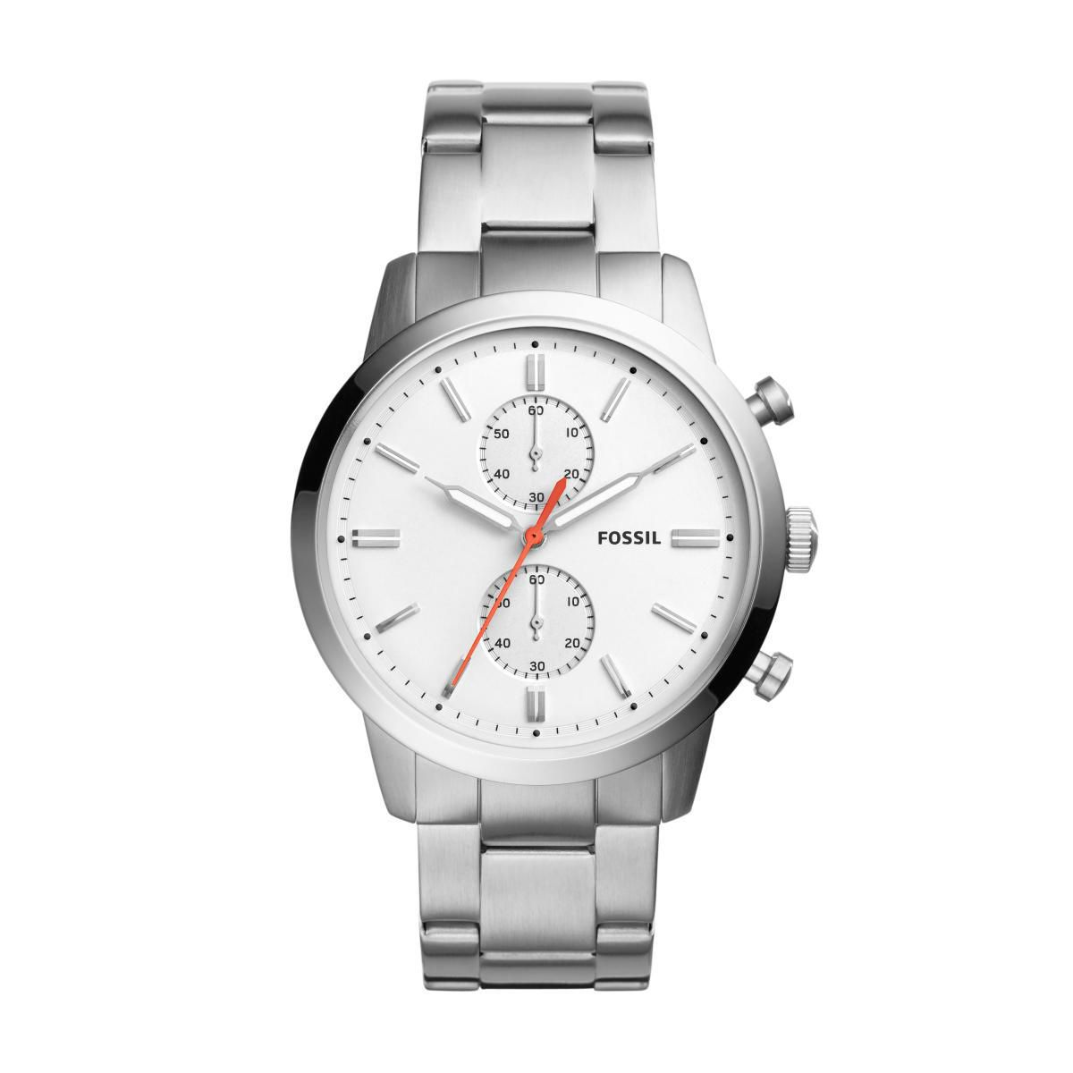 Relógio Masculino Fossil FS5346/1BN Pulseira Aço Prata