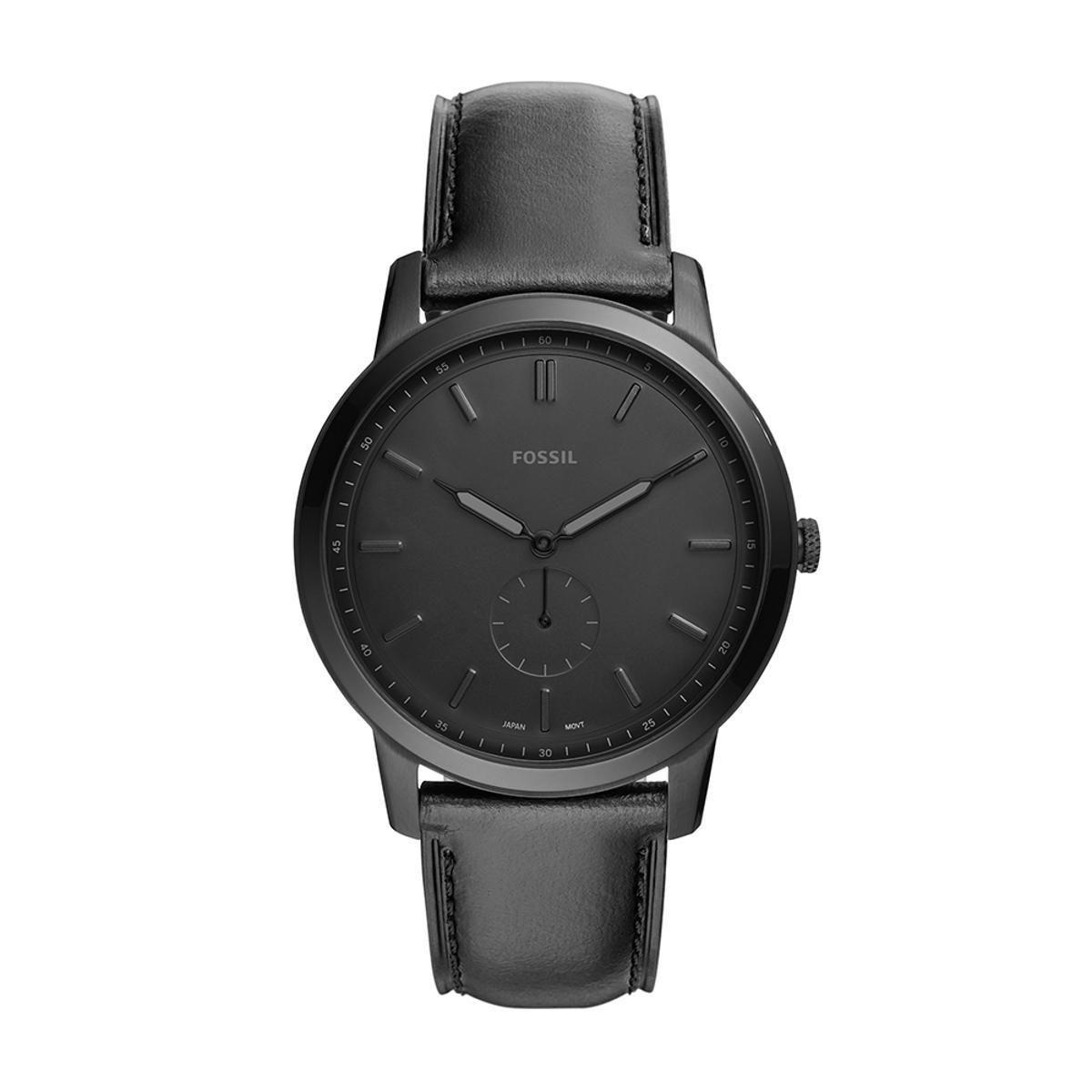 Relógio Masculino Fossil FS5447/0PN 44mm Couro Preto