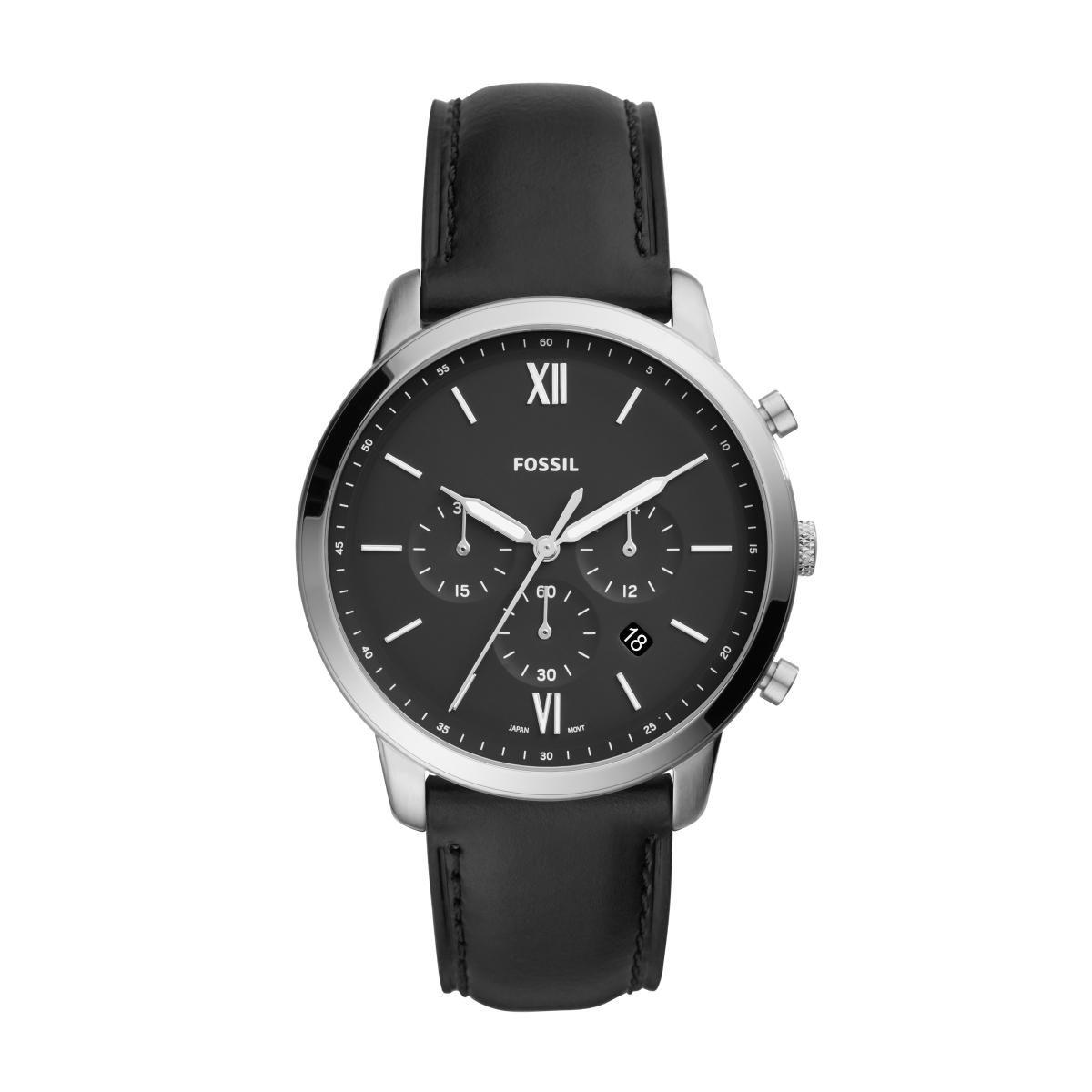 Relógio Masculino Fossil FS5452/0PN 44mm Couro Preto