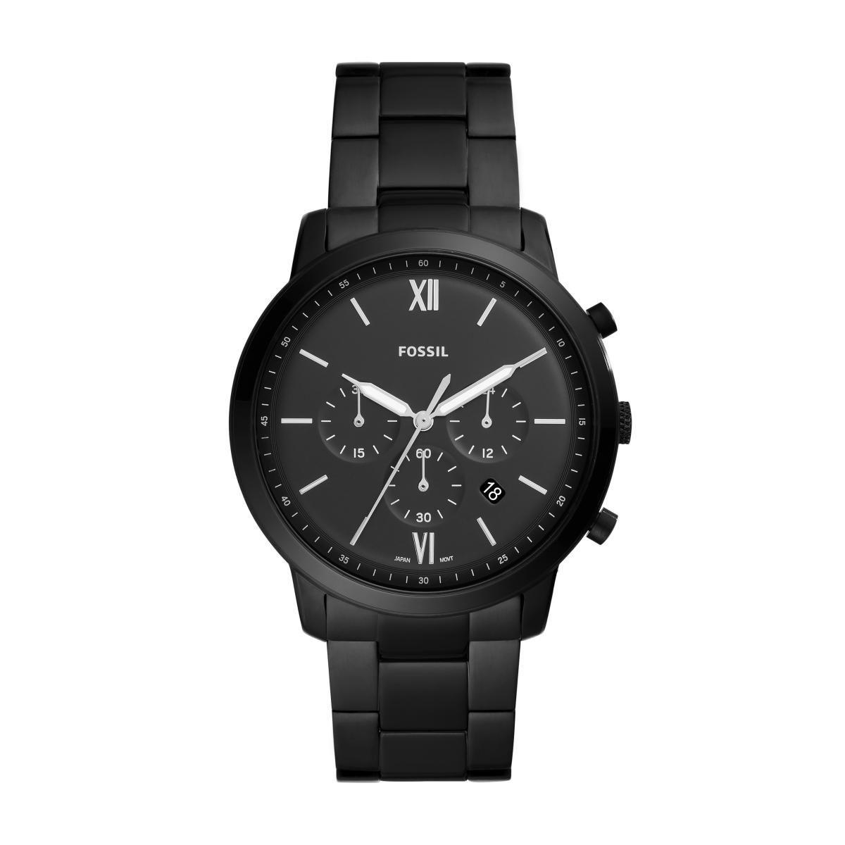 Relógio Masculino Fossil FS5474/1PN 44mm Aço Preto