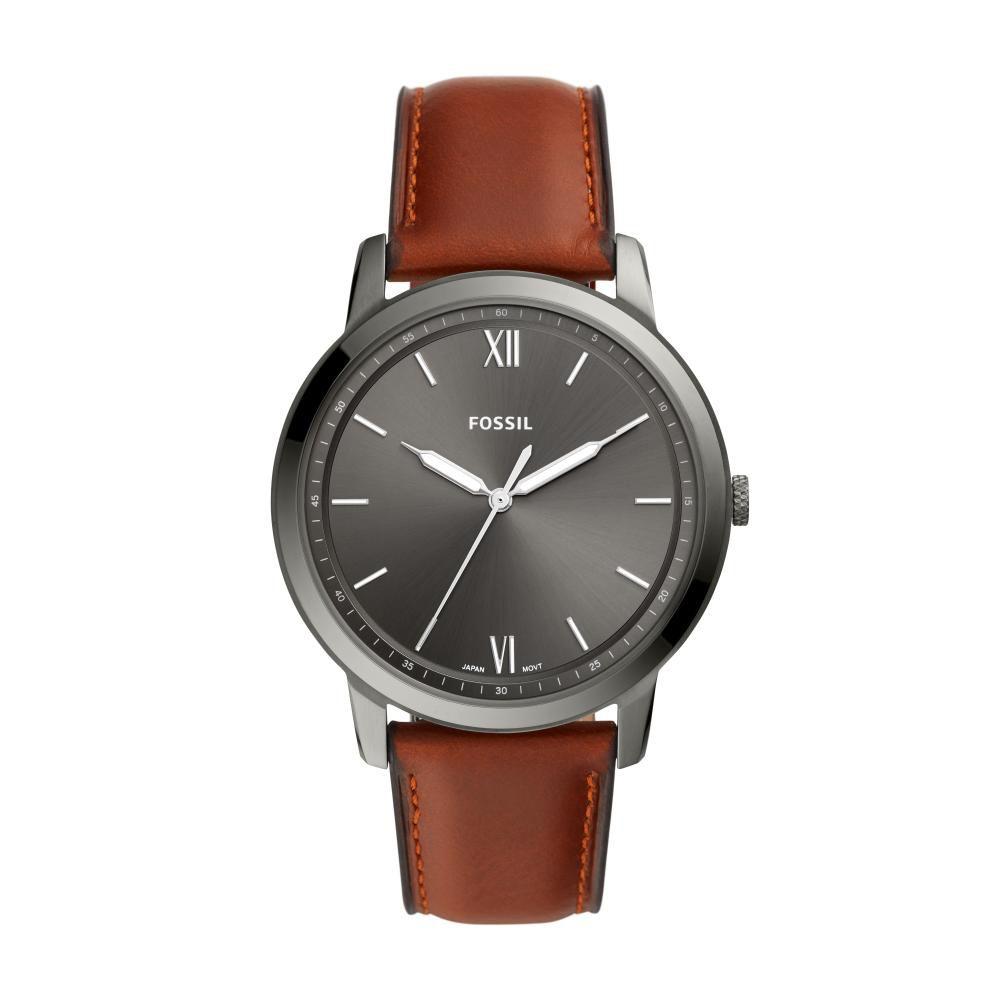 Relógio Masculino Fossil FS5513/0FN 44mm Couro Marrom