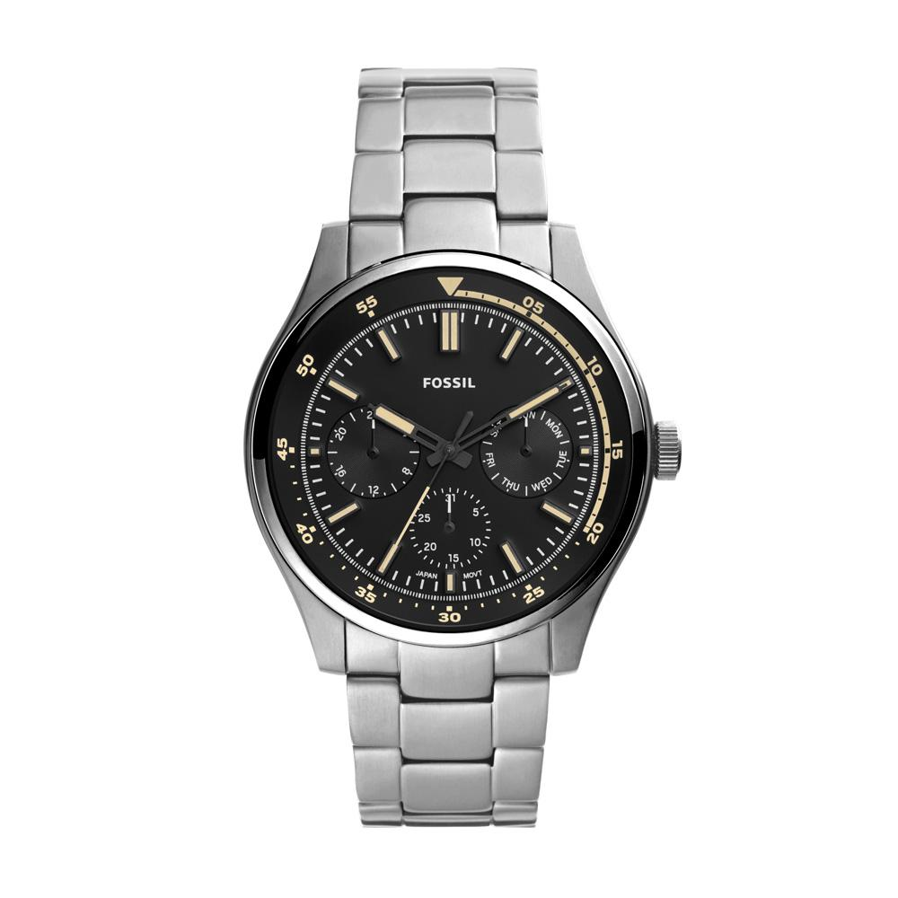Relógio Masculino Fossil FS5575/1KN 44mm Aço Prata
