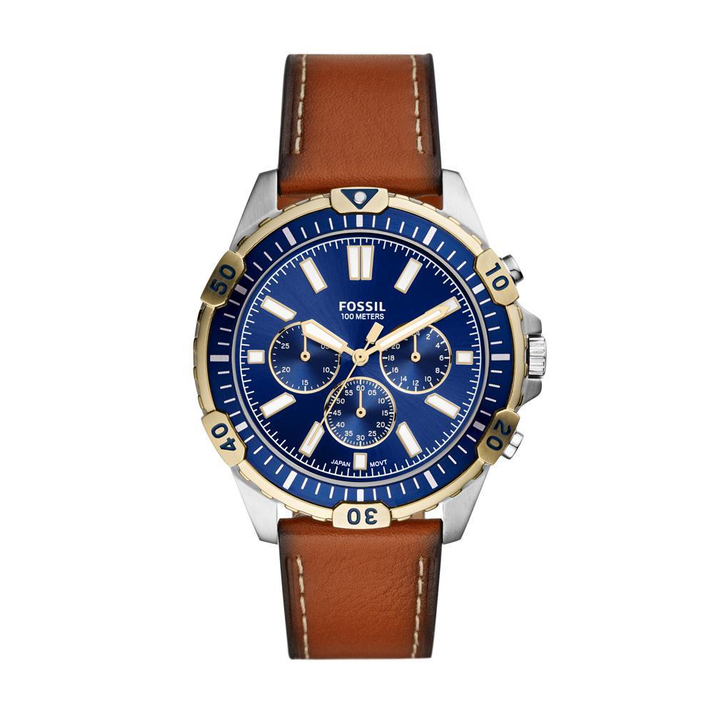 Relógio Masculino Fossil FS5625/0KN 45mm Couro Marrom