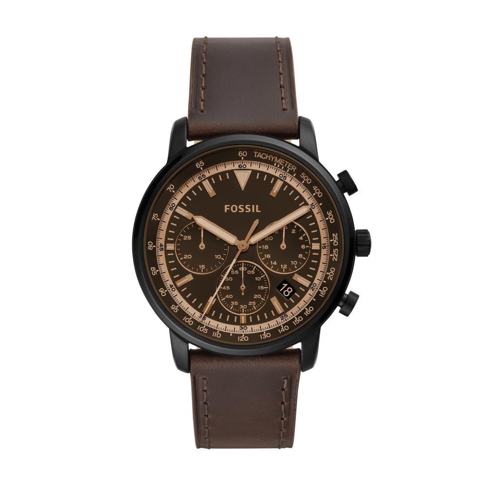 Relógio Masculino Fossil Goodwin FS5529/0MN 44mm Couro Marrom