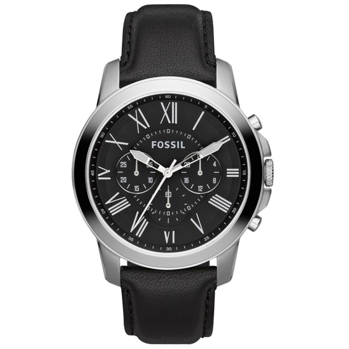 Relógio Masculino Fossil Grant Chronograph FFS4812/Z  Couro