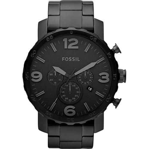 Relógio Masculino Fossil Nate Chronograph FJR1401/Z Preto