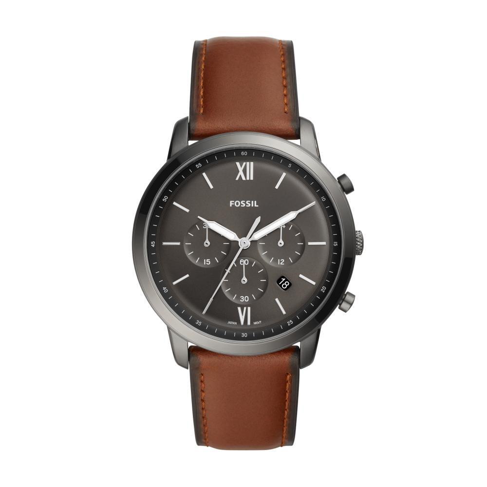 Relógio Masculino Fossil Neutra Chrono FS5512/0CN 44mm Couro Marrom