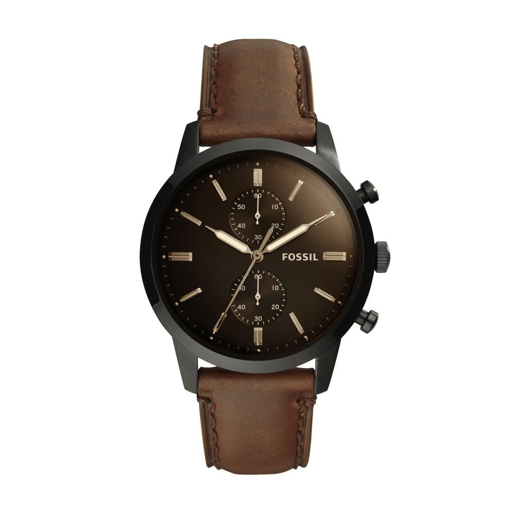 Relógio Masculino Fossil Townsman FS5437/0MN 44mm Couro Marrom