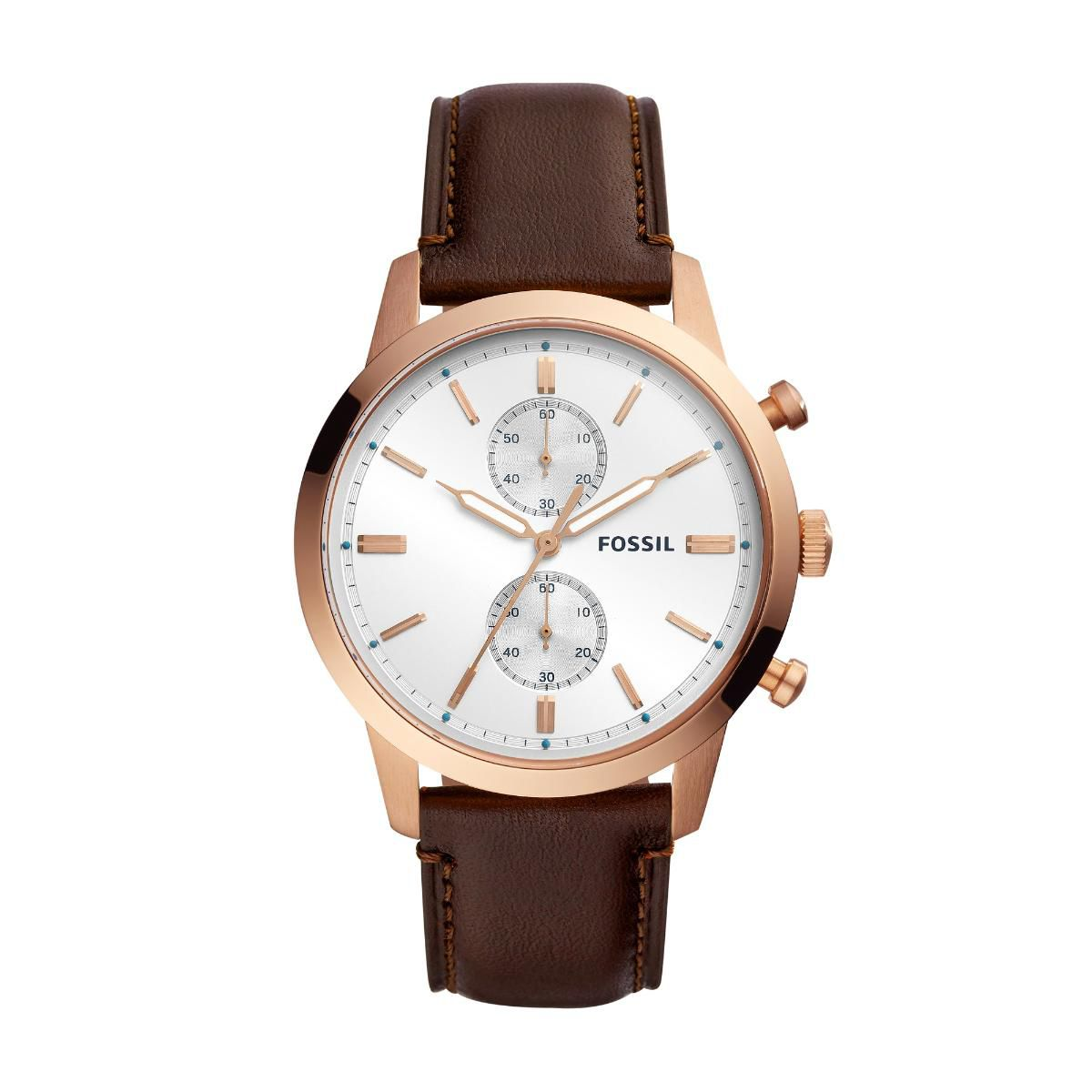 Relógio Masculino Fossil Townsman FS5468/1MN 44mm Couro Marrom