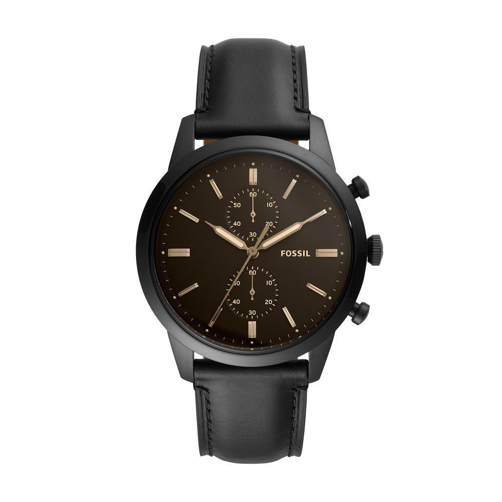 Relógio Masculino Fossil Townsman FS5585/0PN 44mm Couro Preto
