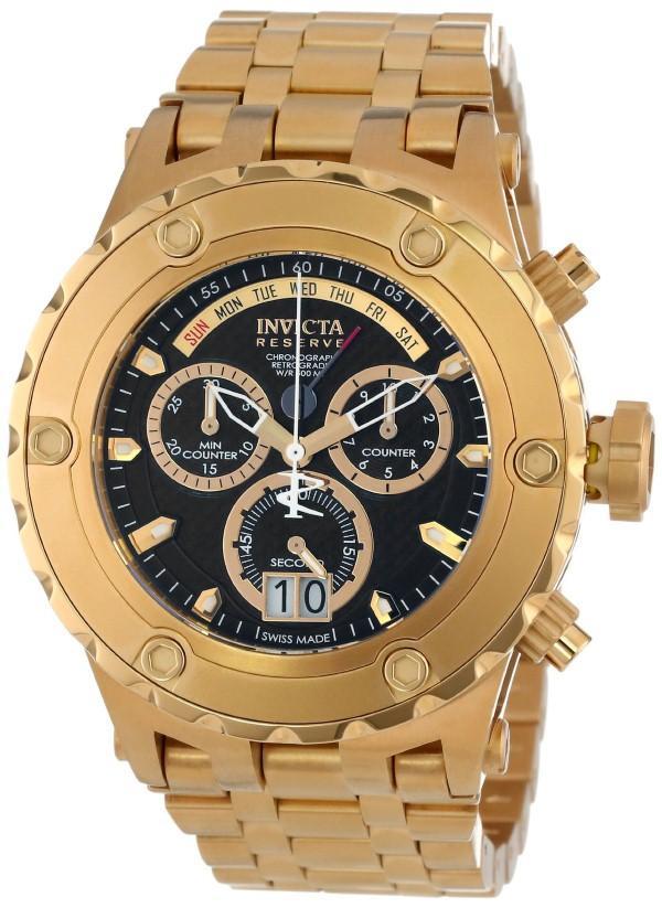 Relógio Masculino Invicta 14468 52mm Aço Dourado