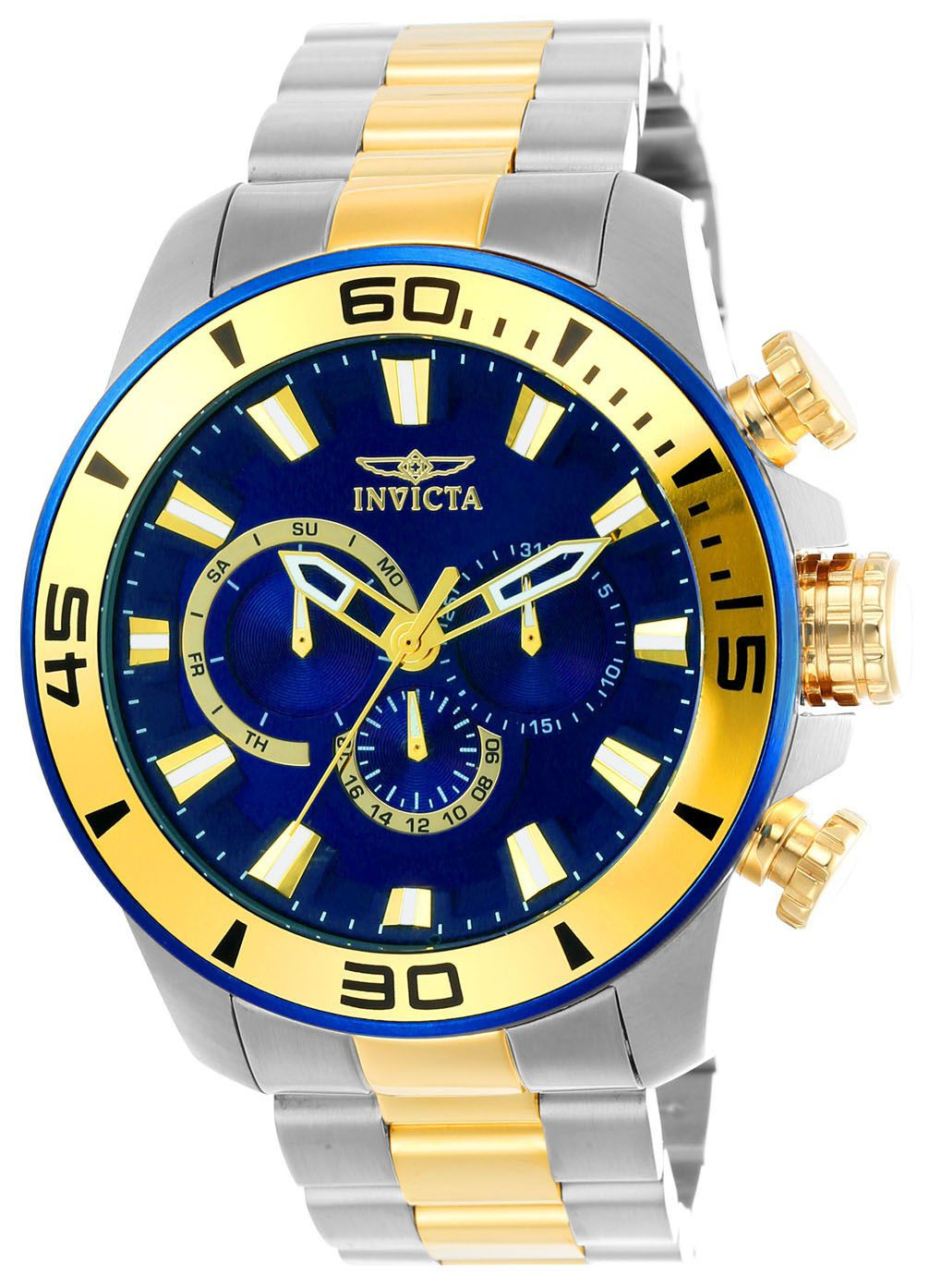 2a7f76981b6 Relógio Masculino Invicta Pro Diver 22591 49mm Prata e Dourado (Cor Interna  da Caixa Azul)