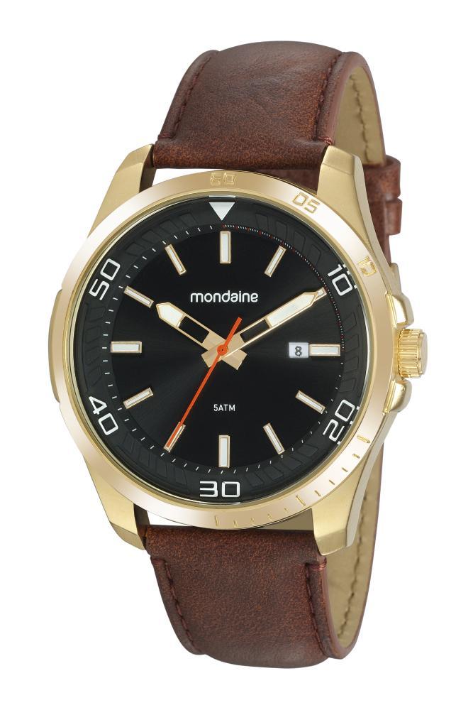 Relógio Masculino Mondaine 32145GPMVDH1 49mm Couro Marrom