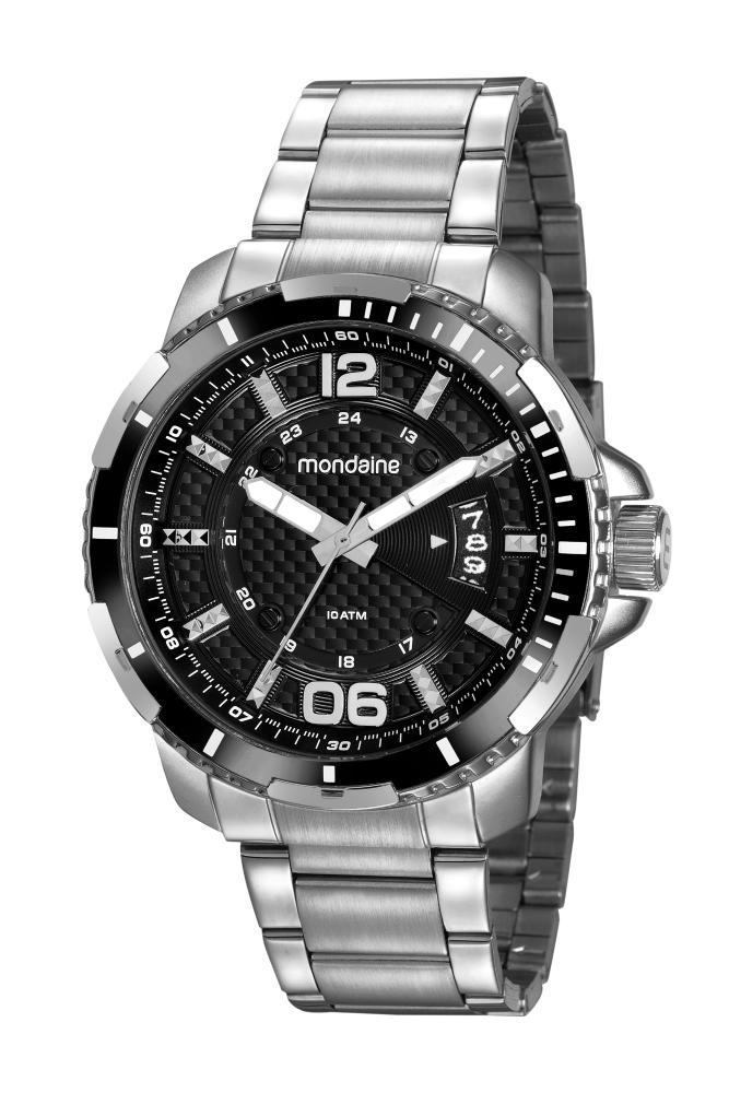 Relógio Masculino Mondaine 32147G0MVNS2 50mm Aço Prata