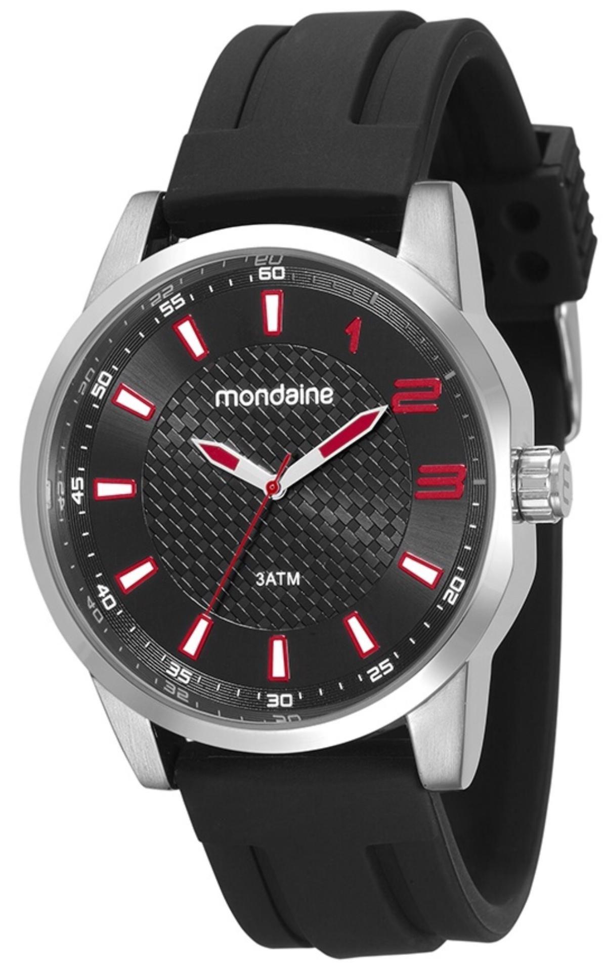 Relógio Masculino Mondaine 53526G0MVNI1 46mm Silicone Preto