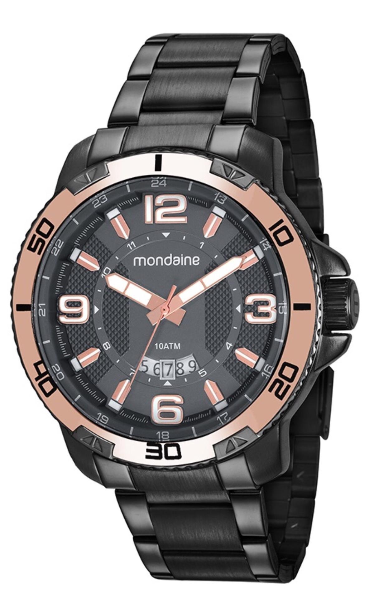 52592eae13f Relógio Masculino Mondaine 53679GPMVSS2 50mm Aço Grafite