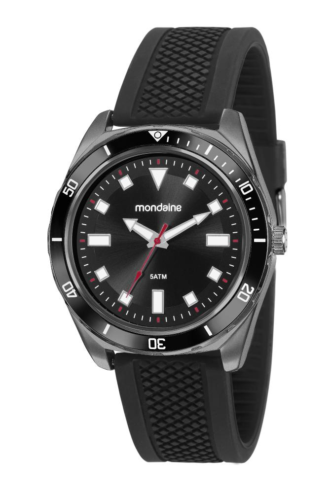 Relógio Masculino Mondaine 53769GPMVPI1 48mm Silicone Preto