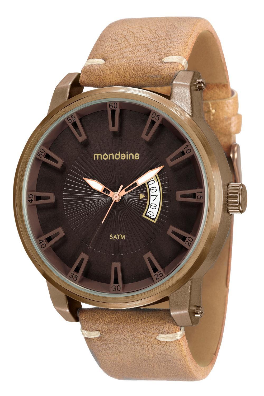 Relógio Masculino Mondaine 76554GPMVMH6 50mm Couro Marrom