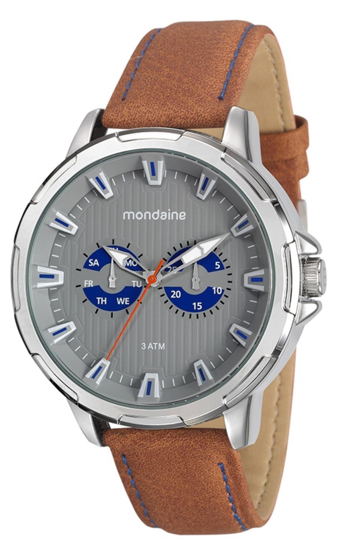 Relógio Masculino Mondaine 76693G0MVNH2 49mm Couro Marrom