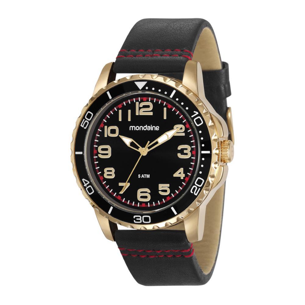 Relógio Masculino Mondaine 76710GPMVDH4 38mm Couro Preto