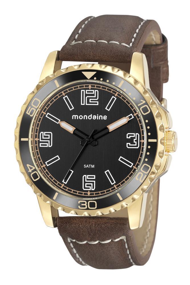 Relógio Masculino Mondaine 76762GPMVDH3 48mm Couro Marrom