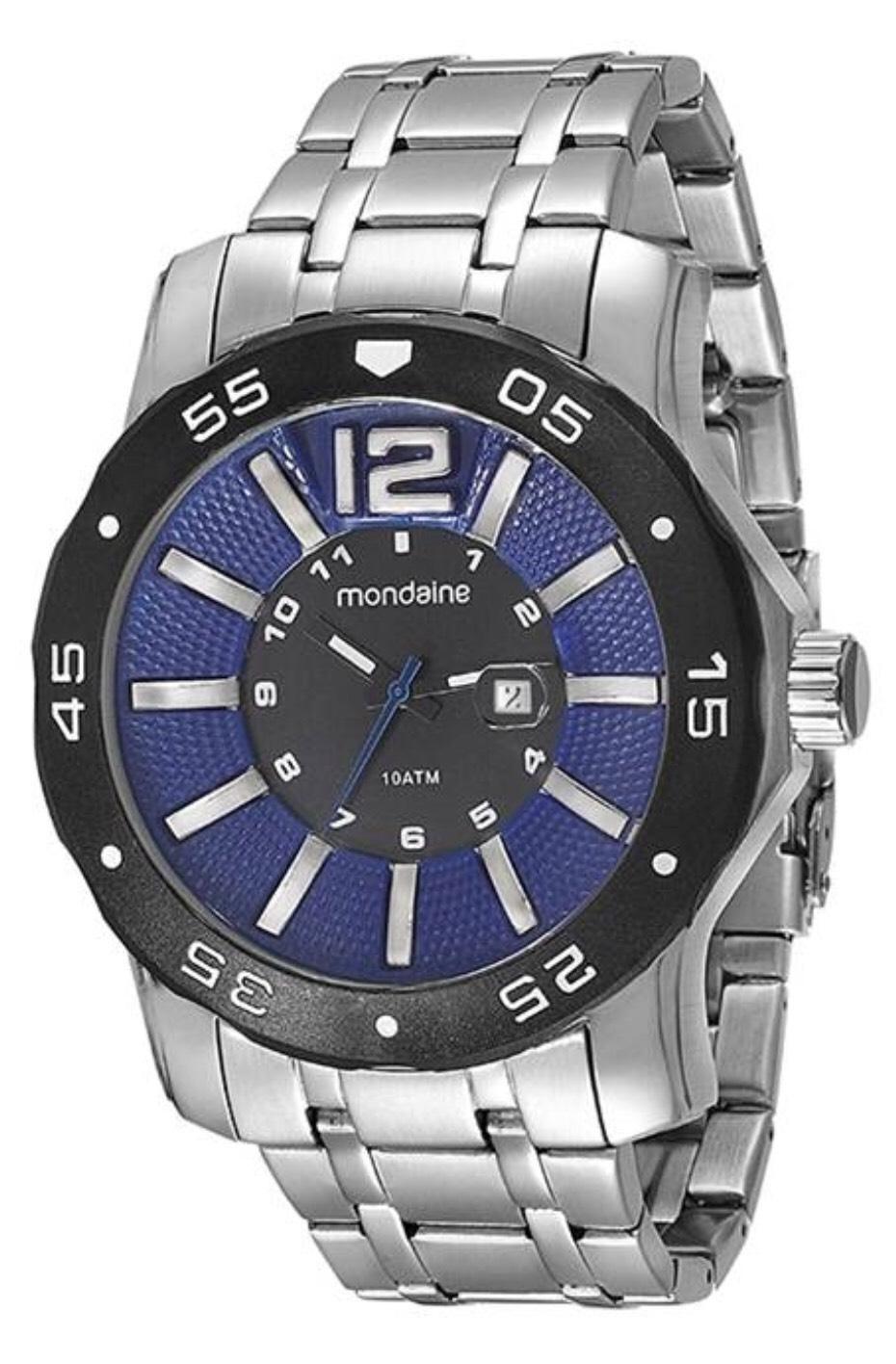 Relógio Masculino Mondaine 94851G0MVNA2 52mm Pulseira Aço Prata