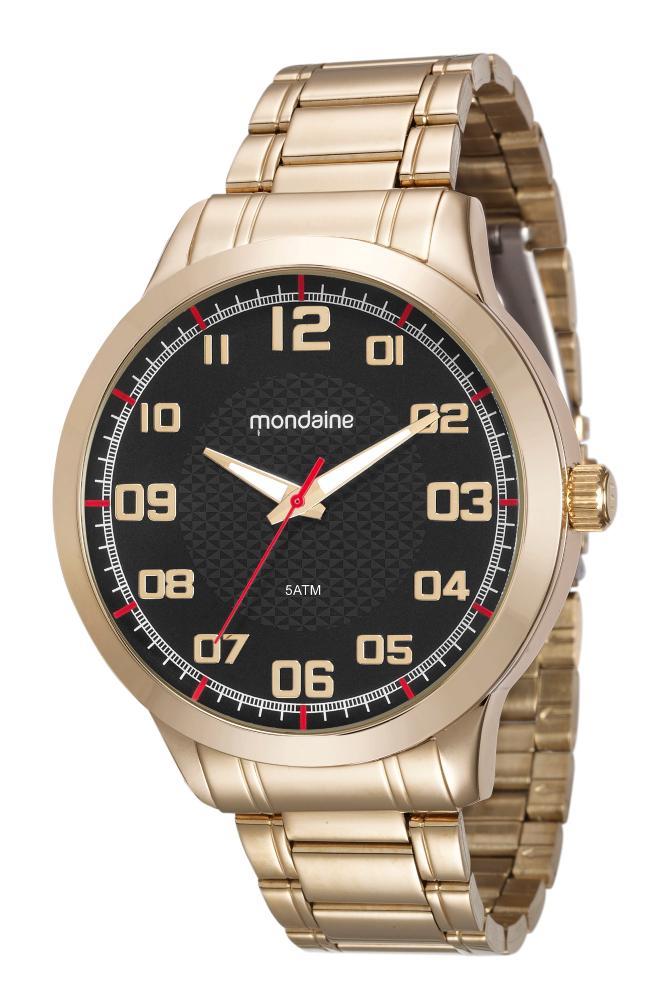 Relógio Masculino Mondaine 99142GPMVDE5 48mm Aço Dourado