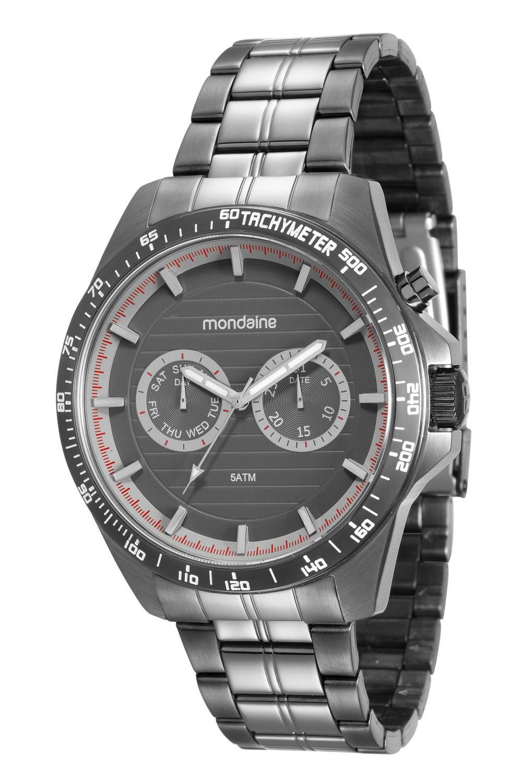 Relógio Masculino Mondaine 99178GPMVSA1 46mm Aço Grafite