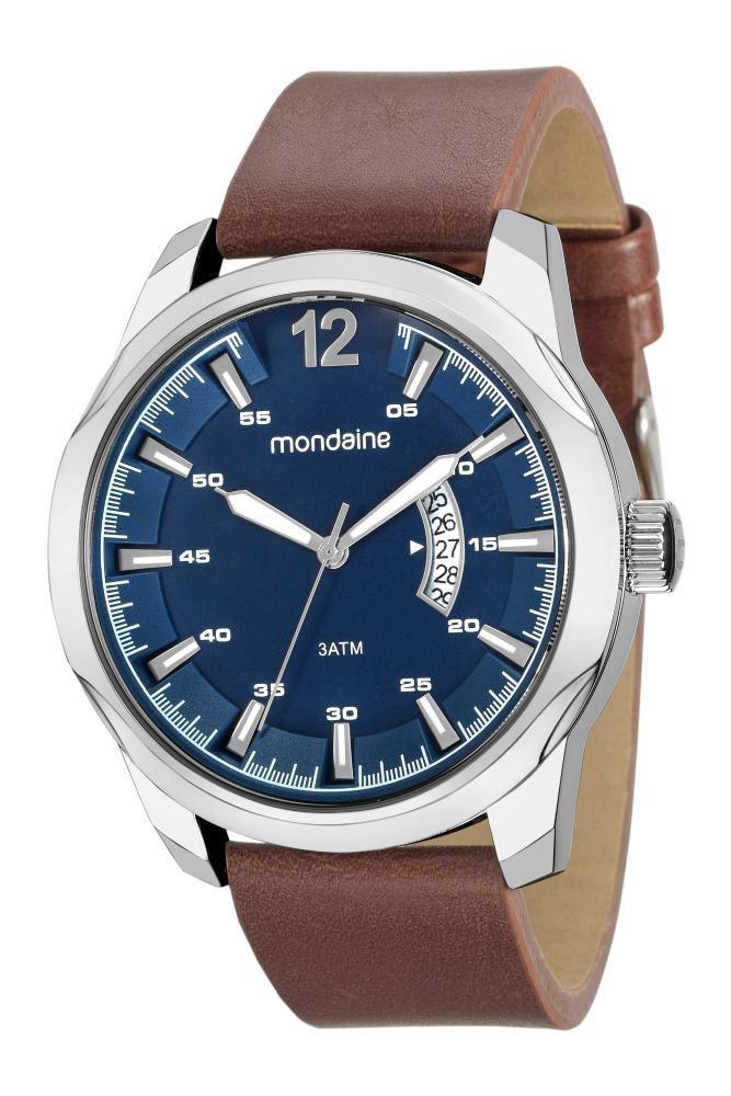 Relógio Masculino Mondaine 99216G0MVNH1 48mm Couro Marrom