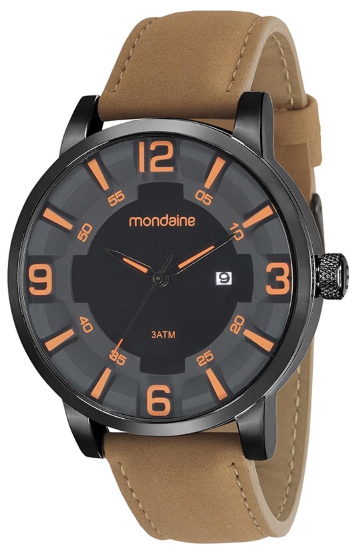 a90b4b1606a0f Relógio Masculino Mondaine 99222GPMVPH2 47mm Pulseira Couro Marrom -  Vitrino Relógios