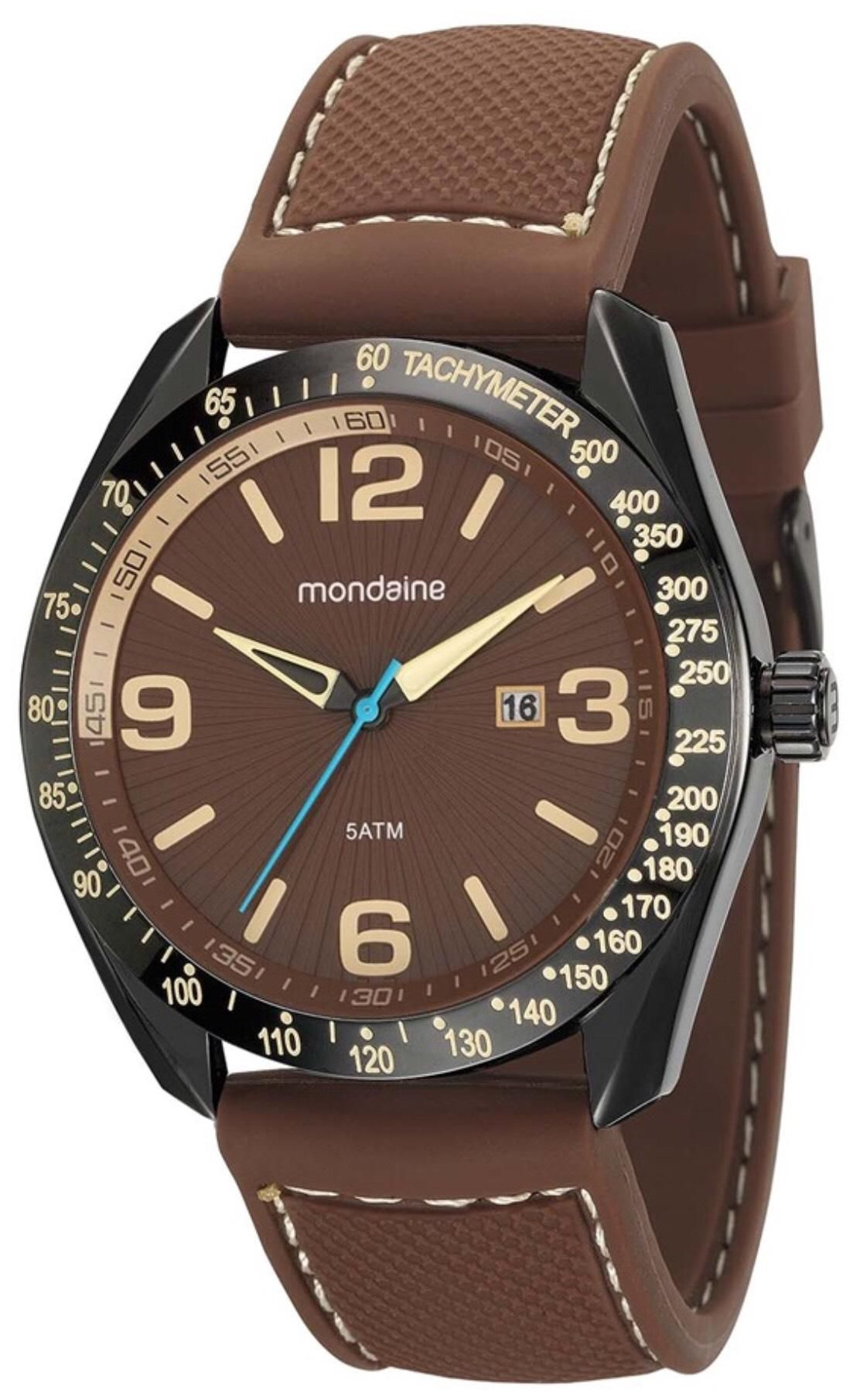 Relógio Masculino Mondaine 99248GPMEPI2 48mm Silicone Marrom