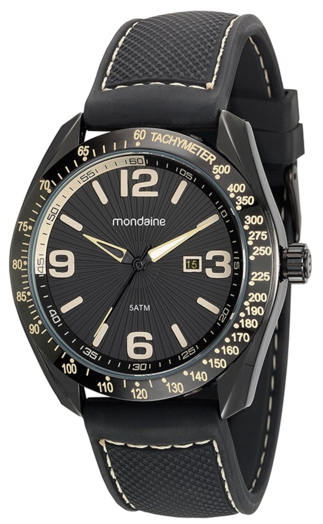 3bba4dba486 Relógio Masculino Mondaine 99248GPMVPI1 48mm Silicone Preto