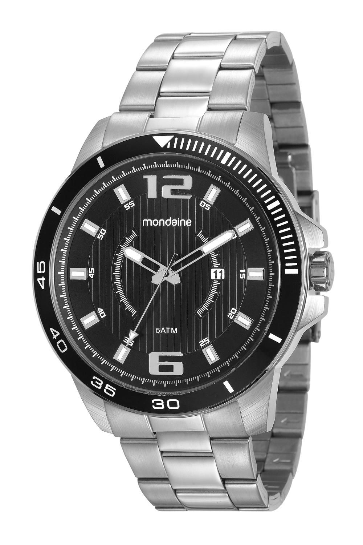 Relógio Masculino Mondaine 99283G0MVNS2 50mm Aço Prata