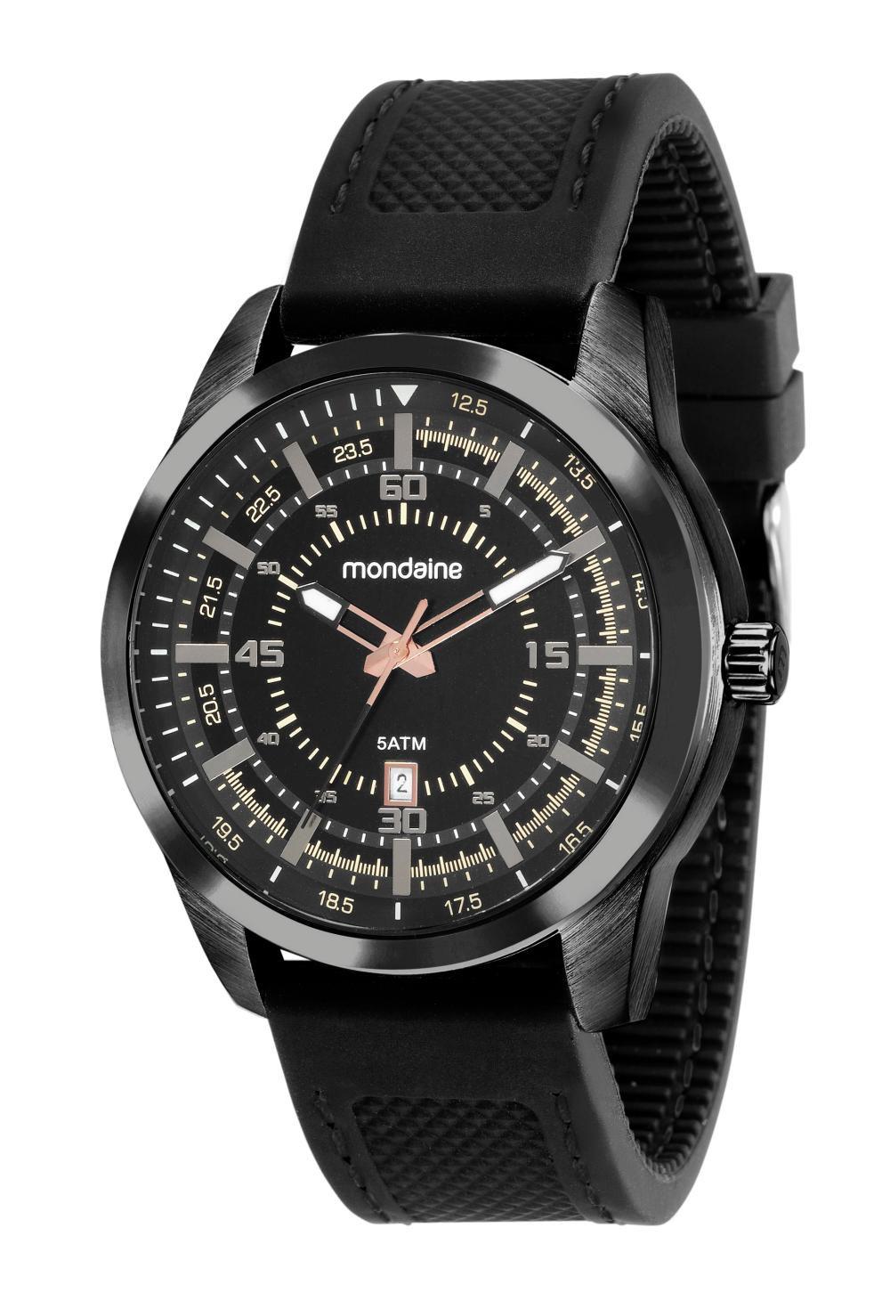 Relógio Masculino Mondaine 99384GPMVPI3 48mm Silicone Preto
