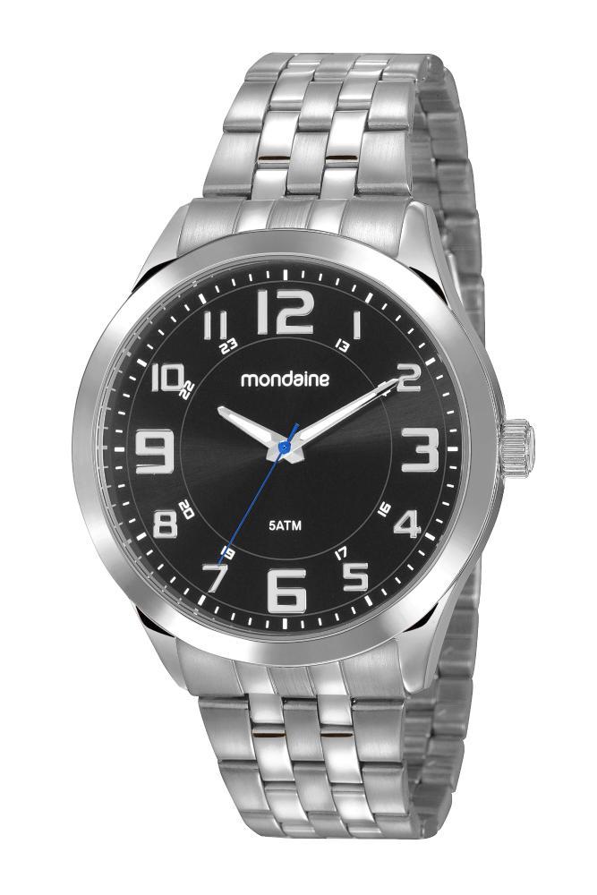 Relógio Masculino Mondaine 99421G0MVNE1 48mm Aço Prata